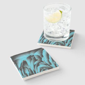 Turquoise mineral stone coaster