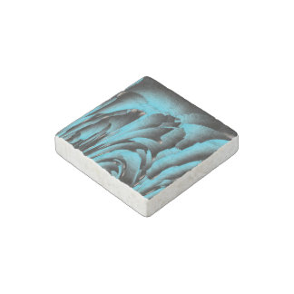 Turquoise mineral stone magnet