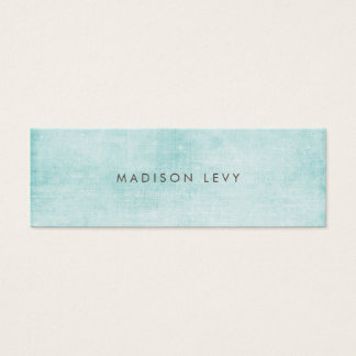Turquoise Minimalist Distressed Appointment Cards