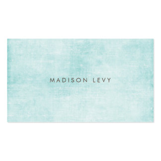 Turquoise Minimalist Distressed Appointment Cards Business Card