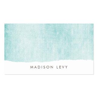 Turquoise Minimalist Distressed Torn  Cards