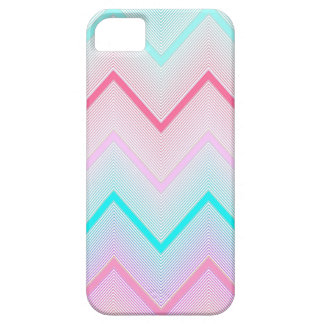 Turquoise, Mint and Coral Chevron pattern iPhone 5 Covers
