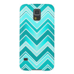 Turquoise, Mint and White Chevron pattern Case For Galaxy S5
