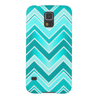 Turquoise, Mint and White Chevron pattern Galaxy S5 Case