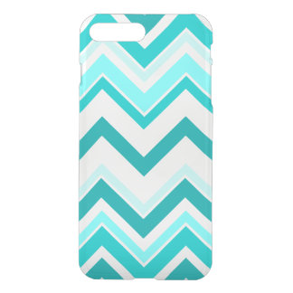 Turquoise, Mint and White Chevron pattern iPhone 7 Plus Case