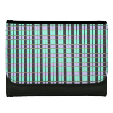Professional Business Turquoise-Mint-Checks-Wallet's-Multi-Styles Wallet