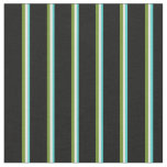 [ Thumbnail: Turquoise, Mint Cream, Green & Black Colored Fabric ]
