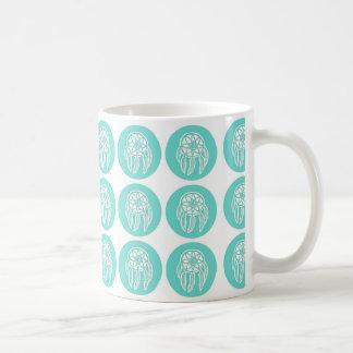 Turquoise Mint Dreamcatchers Pattern Mug