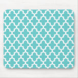 Turquoise Modern Moroccan Pattern Mouse Pads