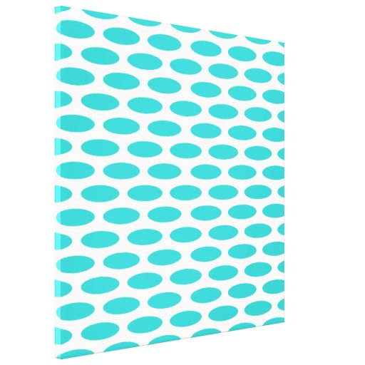 Turquoise Modern Oval at Emporiomoffa Stretched Canvas Prints