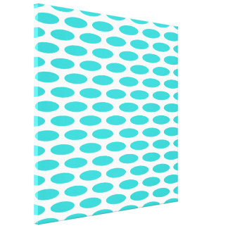 Turquoise Modern Oval at Emporiomoffa Canvas Print