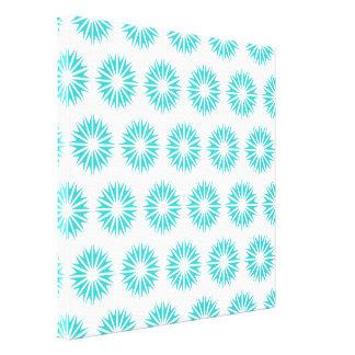 Turquoise Modern Sunbursts Gallery Wrap Canvas
