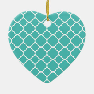 Turquoise Moroccan Pattern Ceramic Ornament