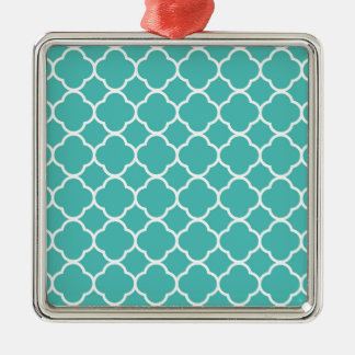 Turquoise Moroccan Pattern Metal Ornament