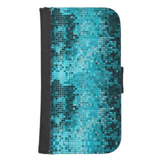 Turquoise Mosaic Geometric Pattern Phone Wallet