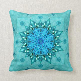 Turquoise Nature Mandala Mojo Throw Pillow