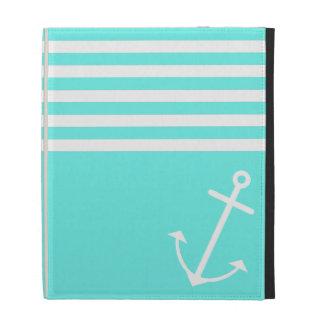 Turquoise Nautical iPad Folio Cover