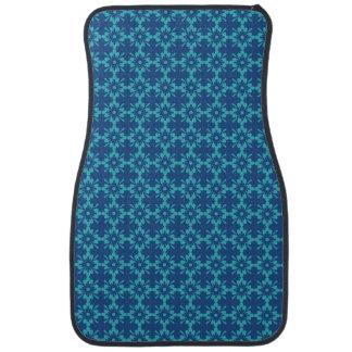 Turquoise/Navy Diamond Pattern Car Mat
