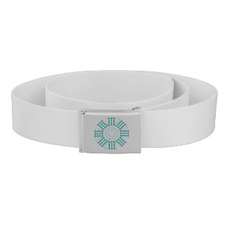 Turquoise Nexus Canvas Belt