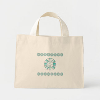 Turquoise Nexus Cotton Tiny Tote Bag