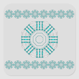 Turquoise Nexus Stickers-20 per sheet Square Square Sticker