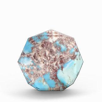 Turquoise Nugget Acrylic Award