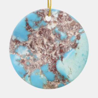 Turquoise Nugget Ceramic Ornament