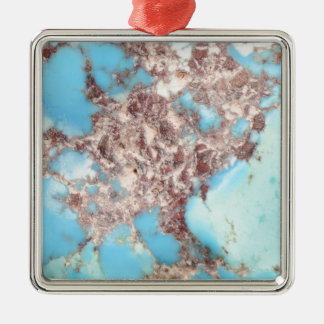 Turquoise Nugget Metal Ornament