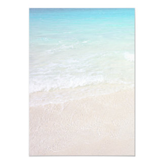 Turquoise Ocean Beach Sand Background Paper 5x7 Paper Invitation Card