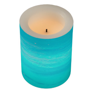 Turquoise Ocean LED Candle