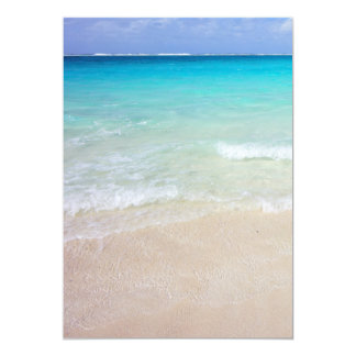 Turquoise Ocean Photography Background Paper Card
