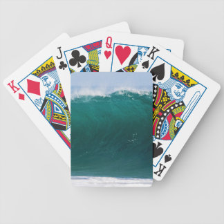 Turquoise Ocean Wave Bicycle Playing Cards