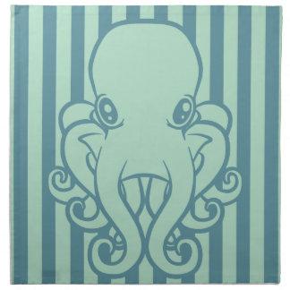 Turquoise Octopus Napkin
