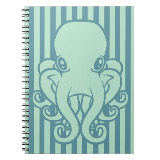 Turquoise Octopus Notebook