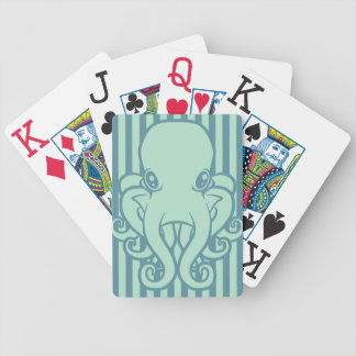 Turquoise Octopus Playing Cards