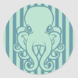 Turquoise Octopus Stickers