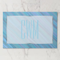 Turquoise Office | Blue Teal Calm Cool Brushstroke Paper Pad