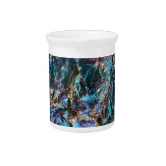 Turquoise Oil Slick Quartz Beverage Pitcher