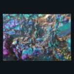 "Turquoise Oil Slick Quartz Cloth Placemat<br><div class=""desc"">Turquoise Oil Slick Quartz</div>"