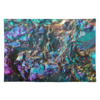 Turquoise Oil Slick Quartz Cloth Placemat