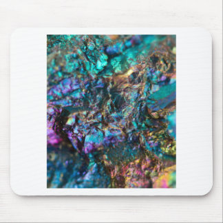 Turquoise Oil Slick Quartz Mouse Pad