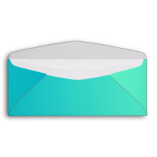 Turquoise Ombre #10 Envelope