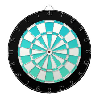 Turquoise Ombre Black And White Dart Boards