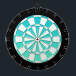 "Turquoise Ombre Black And White Dartboard<br><div class=""desc"">Turquoise Ombre Black And White Dart Board</div>"