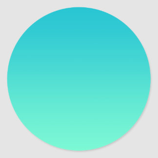 Turquoise Ombre Classic Round Sticker