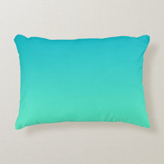 """Turquoise Ombre"" Decorative Pillow"