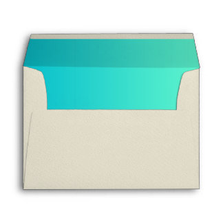 Turquoise Ombre Envelopes