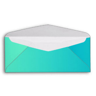 Turquoise Ombre Envelope