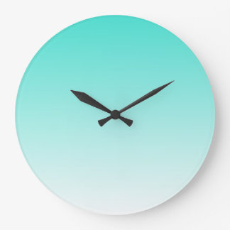 Turquoise Ombre Large Clock