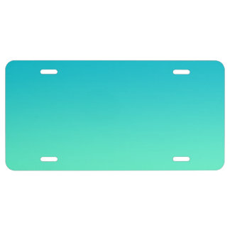 """Turquoise Ombre"" License Plate"